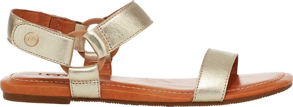 Women's UGG Rynell Flat Sandal, Gold Metallic Lamb Leather, large, image 1