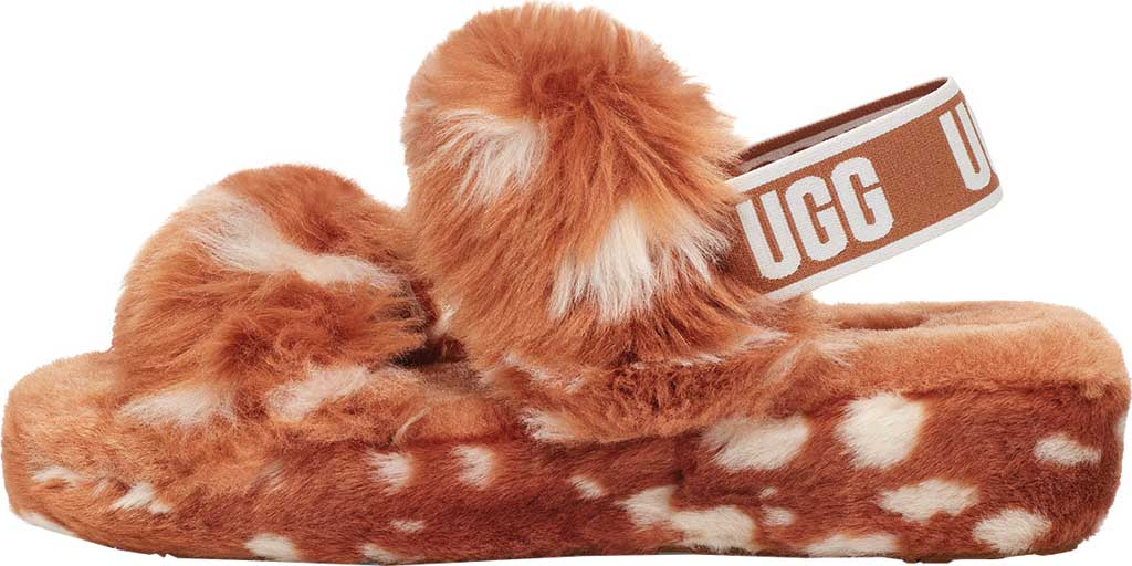 Women's UGG Oh Yeah Spots Slingback Slipper, Natural Faux Shearling, large, image 3