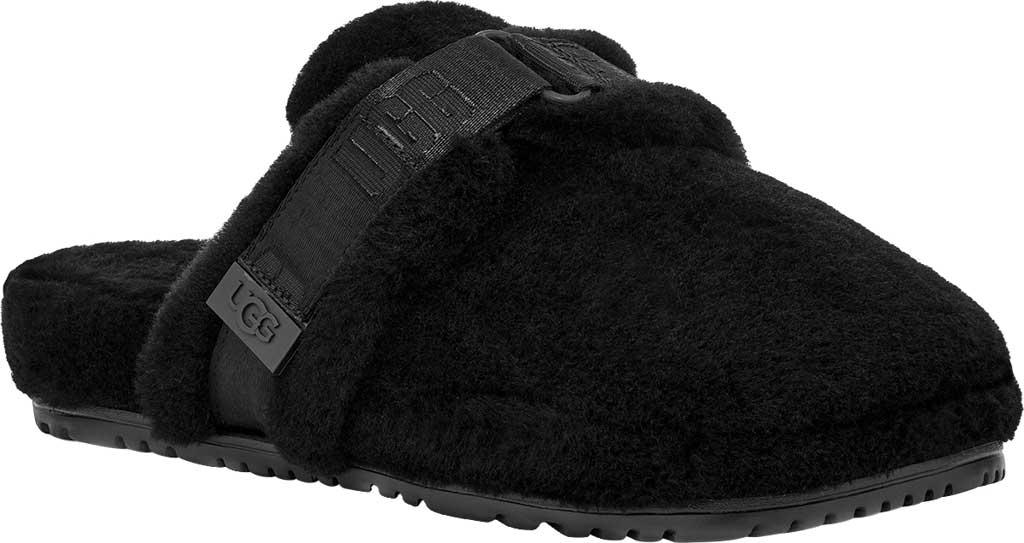 Men's UGG Fluff It Mule Slipper, Black TNL Fluff Wool, large, image 1