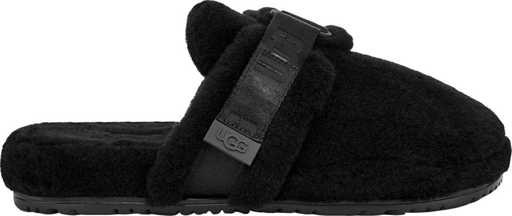 Men's UGG Fluff It Mule Slipper, Black TNL Fluff Wool, large, image 2