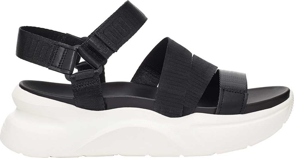 Women's UGG La Shores Platform Sandal, Black Medial Elastic Gore, large, image 1