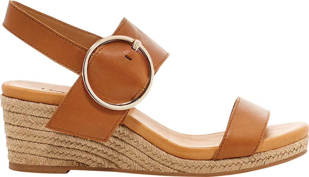 Women's UGG Navee Wedge Espadrille, Tan Leather, large, image 1