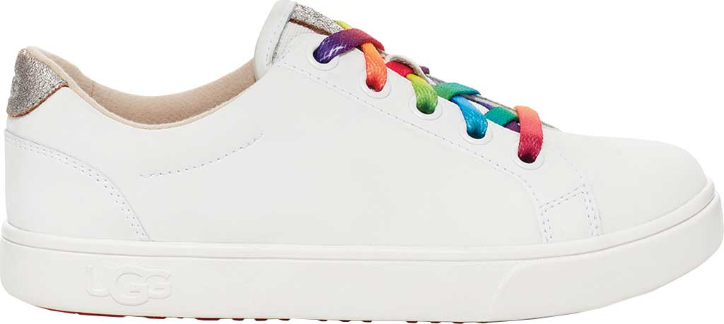 Children's UGG Zilo Sneaker, White Leather, large, image 1