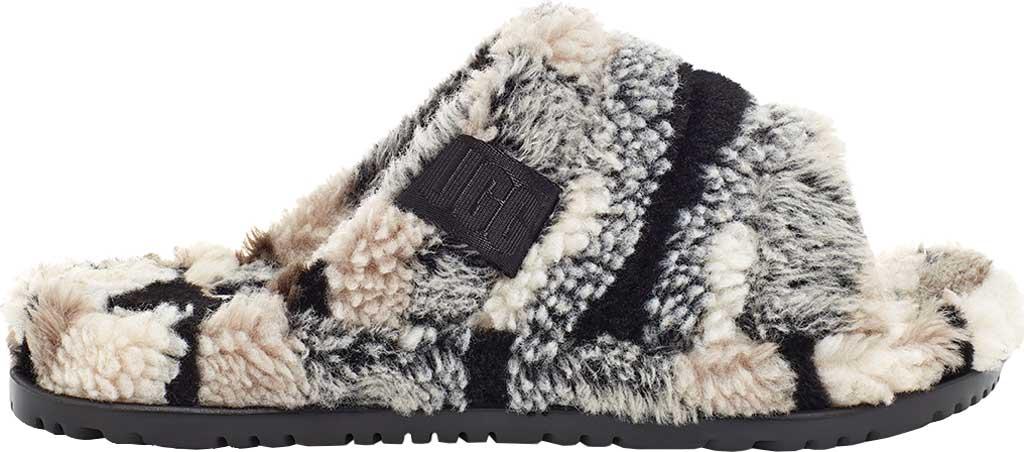 Men's UGG Fluff You Slide Slipper, Grey Wool, large, image 1