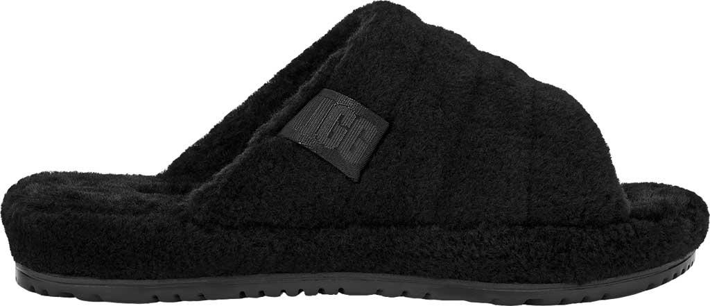 Men's UGG Fluff You Slide Slipper, Black TNL Fluff Wool, large, image 2