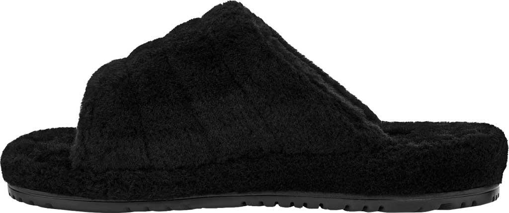 Men's UGG Fluff You Slide Slipper, Black TNL Fluff Wool, large, image 3