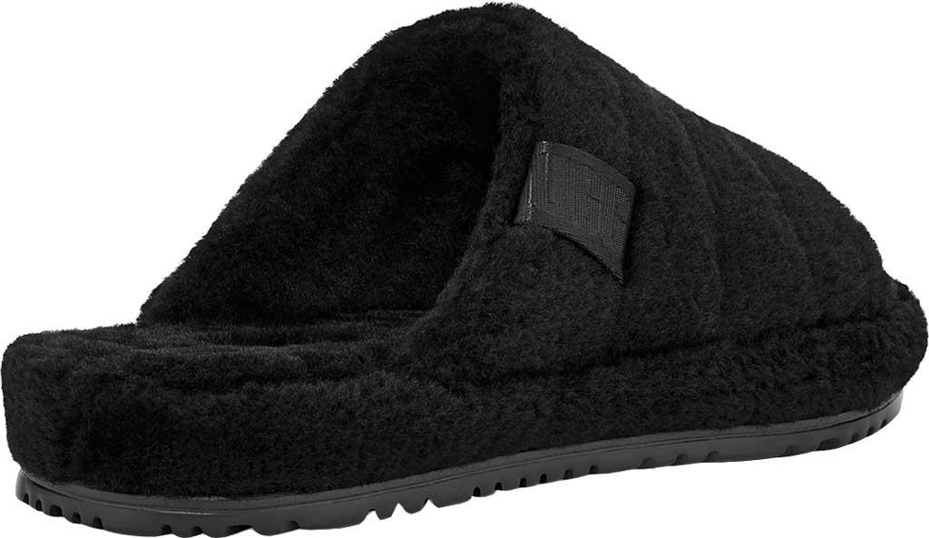 Men's UGG Fluff You Slide Slipper, Black TNL Fluff Wool, large, image 4