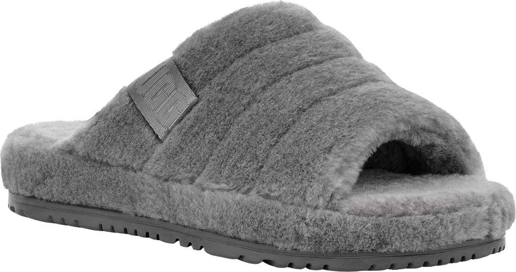 Men's UGG Fluff You Slide Slipper, Metal Fluff Wool, large, image 1