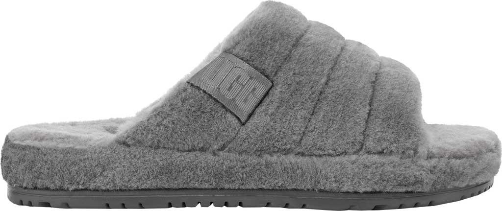 Men's UGG Fluff You Slide Slipper, Metal Fluff Wool, large, image 2