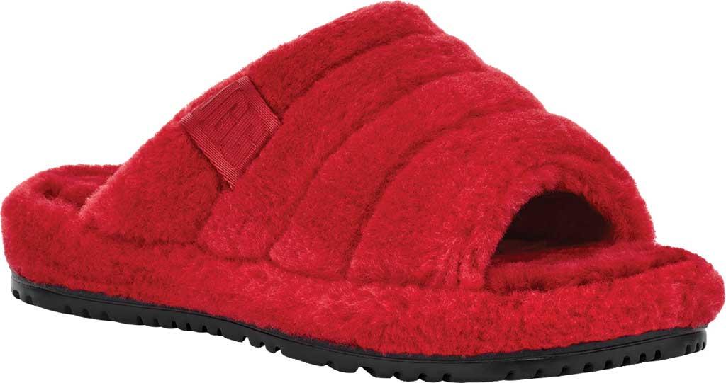 Men's UGG Fluff You Slide Slipper, Samba Red Fluff Wool, large, image 1