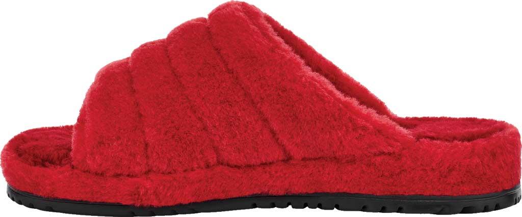 Men's UGG Fluff You Slide Slipper, Samba Red Fluff Wool, large, image 3