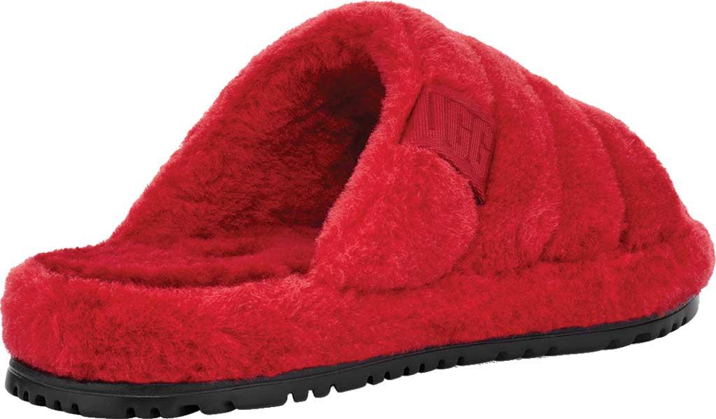 Men's UGG Fluff You Slide Slipper, Samba Red Fluff Wool, large, image 4
