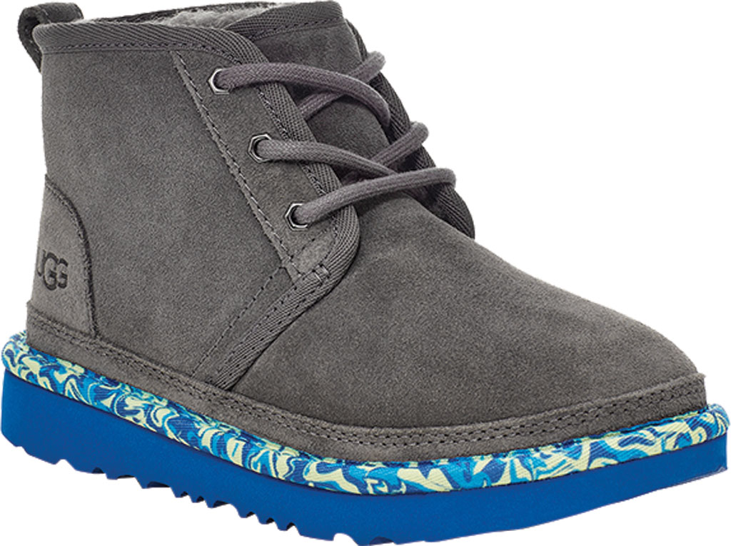 Children's UGG Neumel II Paint Swirl Bootie - Kids, Charcoal Cow Suede, large, image 1