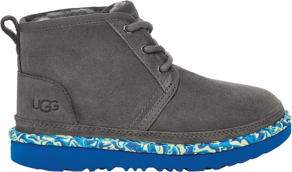 Children's UGG Neumel II Paint Swirl Bootie - Kids, Charcoal Cow Suede, large, image 2