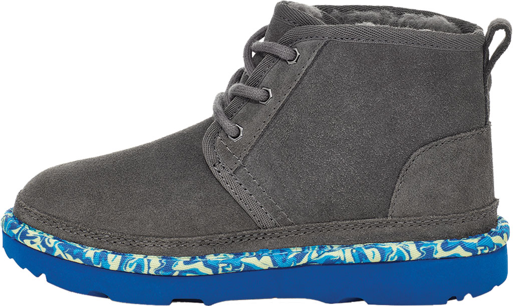 Children's UGG Neumel II Paint Swirl Bootie - Kids, Charcoal Cow Suede, large, image 3