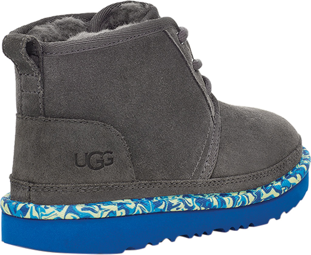 Children's UGG Neumel II Paint Swirl Bootie - Kids, Charcoal Cow Suede, large, image 4