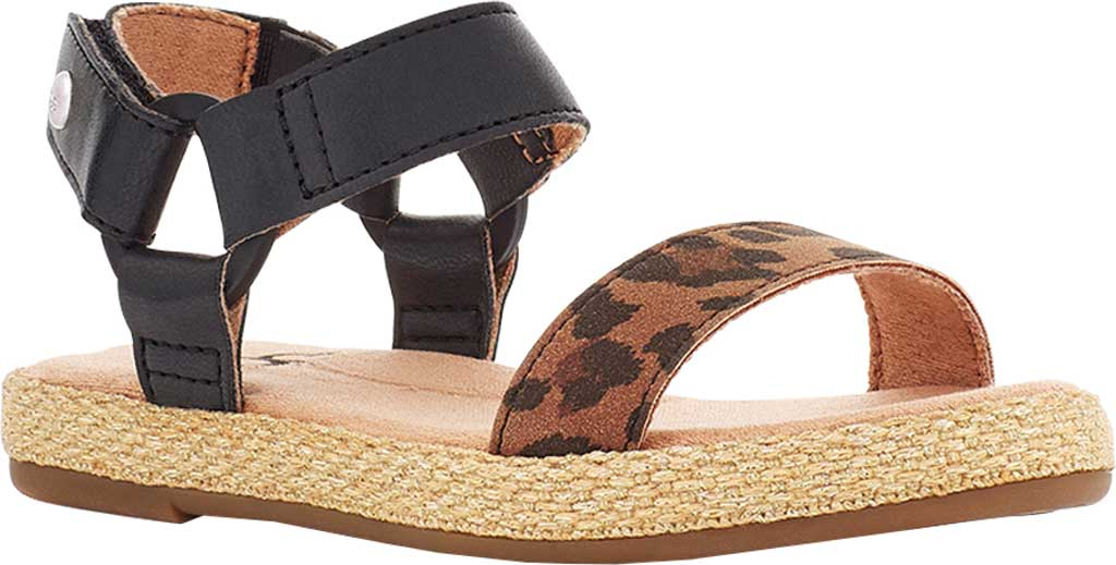 Infant Girls' UGG Rynell Leopard Strappy Sandal - Toddler, Tan Leopard Synthetic Leather/Nubuck, large, image 1