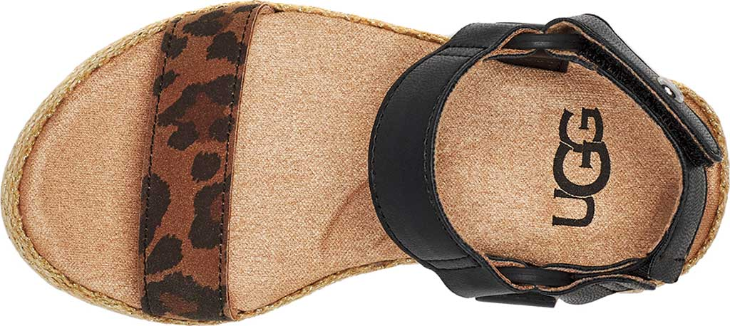 Infant Girls' UGG Rynell Leopard Strappy Sandal - Toddler, Tan Leopard Synthetic Leather/Nubuck, large, image 5
