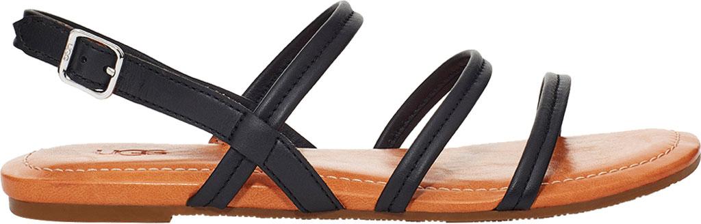 Women's UGG Mytis Strappy Slingback Sandal, Black Cow Leather, large, image 1