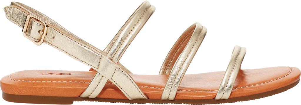 Women's UGG Mytis Strappy Slingback Sandal, Gold Metallic Lamb Leather, large, image 1