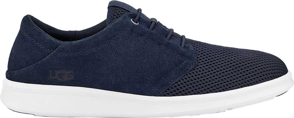 Men's UGG Greyson Sneaker, Dark Sapphire HyperWeave/Nubuck, large, image 2
