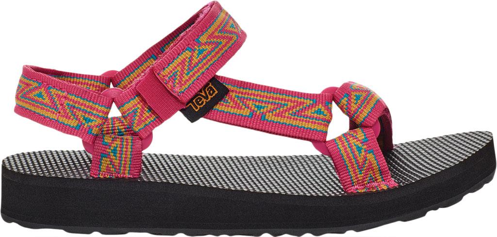 Children's Teva Original Universal Wedge Strappy Sandal, Atlas Raspberry Sorbet Textile, large, image 2