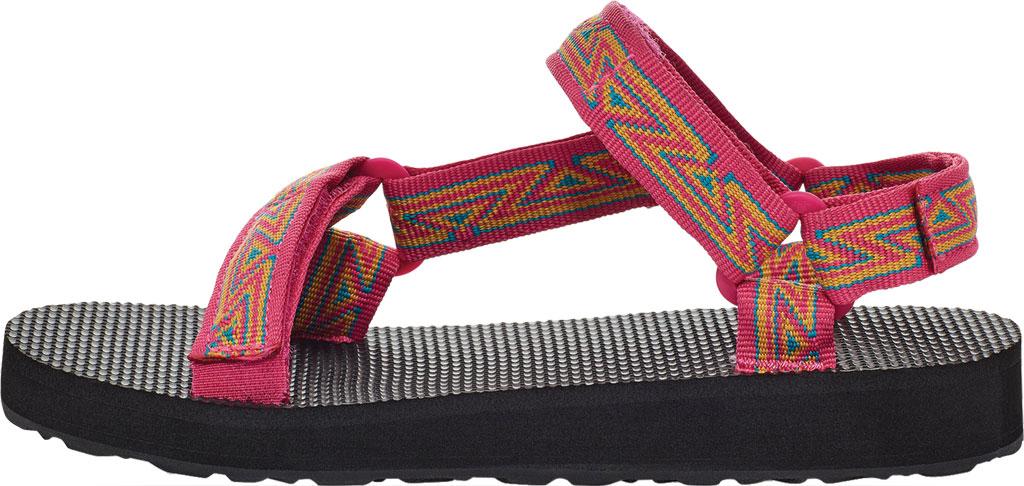 Children's Teva Original Universal Wedge Strappy Sandal, Atlas Raspberry Sorbet Textile, large, image 3