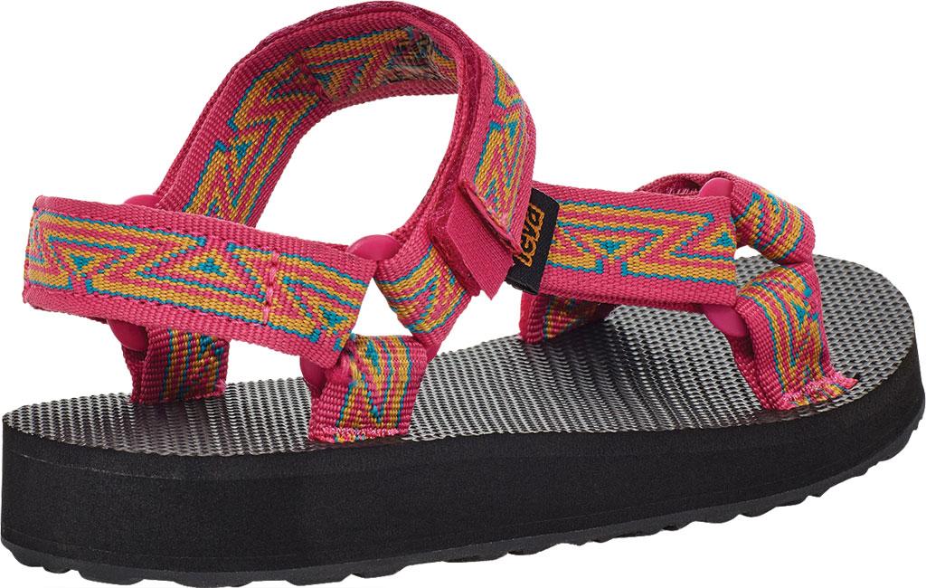 Children's Teva Original Universal Wedge Strappy Sandal, Atlas Raspberry Sorbet Textile, large, image 4