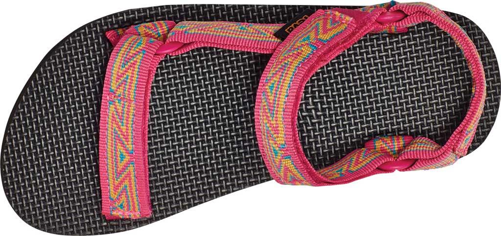 Children's Teva Original Universal Wedge Strappy Sandal, Atlas Raspberry Sorbet Textile, large, image 5