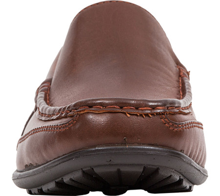Boys' Deer Stags Booster Moc Toe Loafer, Dark Luggage Brown Simulated Leather, large, image 4