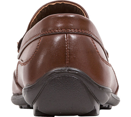 Boys' Deer Stags Booster Moc Toe Loafer, Dark Luggage Brown Simulated Leather, large, image 5