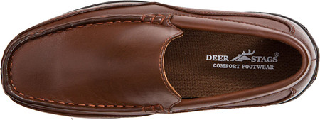 Boys' Deer Stags Booster Moc Toe Loafer, Dark Luggage Brown Simulated Leather, large, image 6