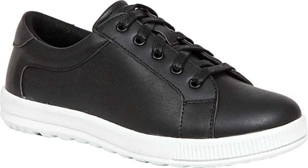 Boys' Deer Stags Kane Sneaker, Black/White Simulated Leather, large, image 1