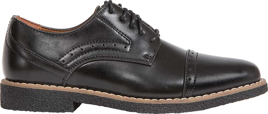 Boys' Deer Stags Zoran Oxford, Black Simulated Leather, large, image 2