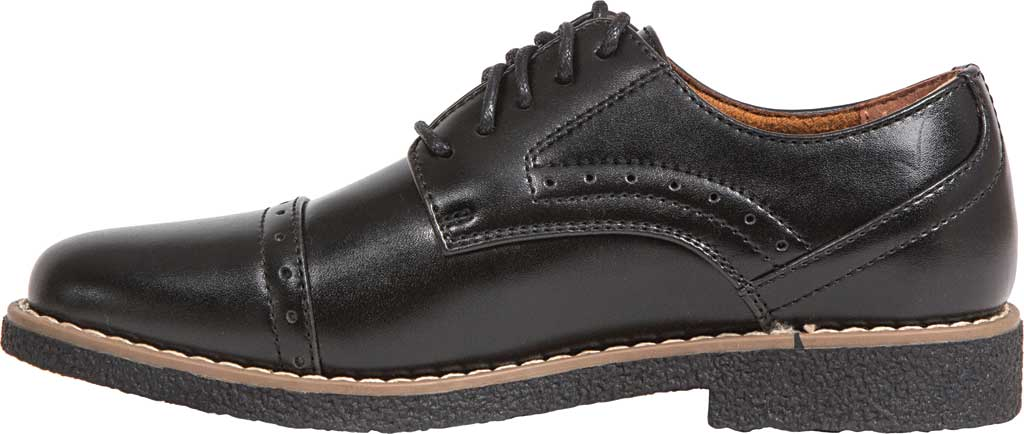 Boys' Deer Stags Zoran Oxford, Black Simulated Leather, large, image 3