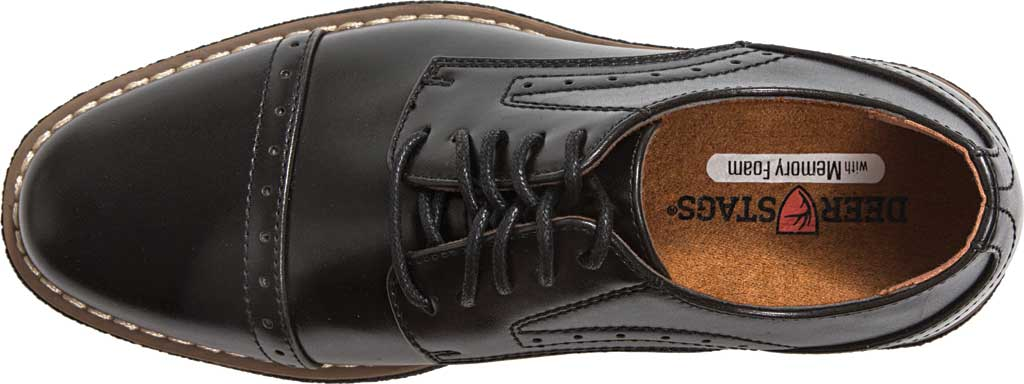 Boys' Deer Stags Zoran Oxford, Black Simulated Leather, large, image 5