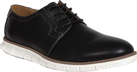 Boys' Deer Stags Aiden Jr Oxford, Black Faux Leather, large, image 1