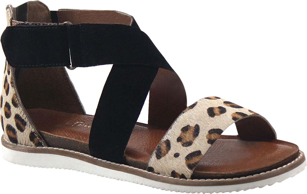 Women's Diba True Flip Toes Strappy Sandal, Leopard/Black Hair/Suede, large, image 1