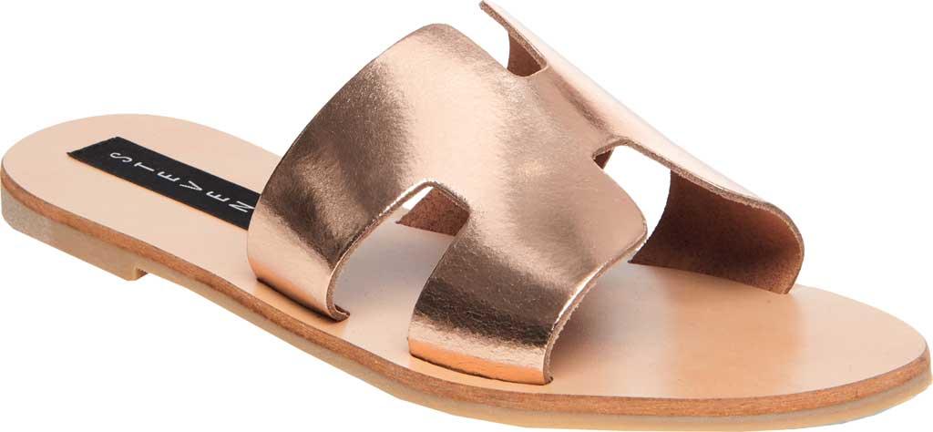 Women's STEVEN by Steve Madden Greece Slide Sandal, Rose Gold Leather, large, image 1