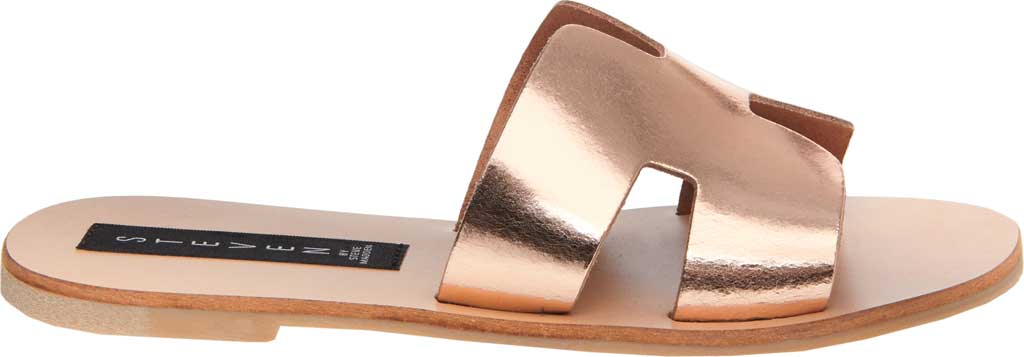 Women's STEVEN by Steve Madden Greece Slide Sandal, Rose Gold Leather, large, image 2