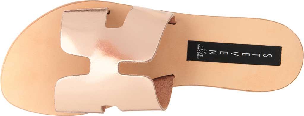 Women's STEVEN by Steve Madden Greece Slide Sandal, Rose Gold Leather, large, image 4