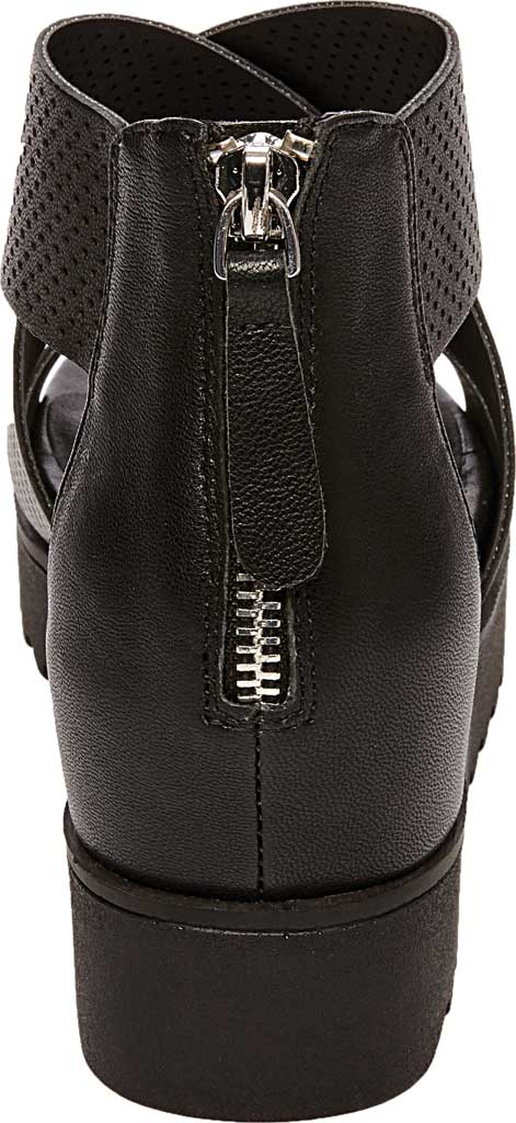 Women's STEVEN by Steve Madden Klein Perforated Platform Sandal, Black Synthetic Leather, large, image 3