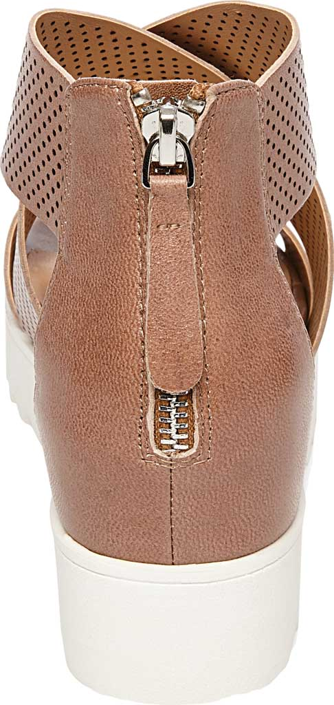 Women's STEVEN by Steve Madden Klein Perforated Platform Sandal, Tan Synthetic Leather, large, image 3