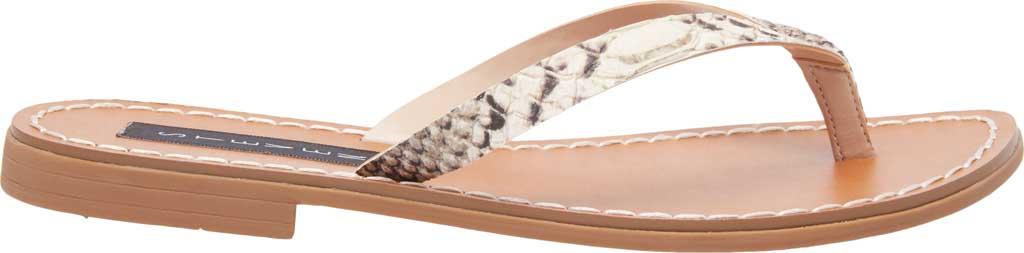 Women's STEVEN by Steve Madden Chey Thong Sandal, Natural Snake Print Leather, large, image 2