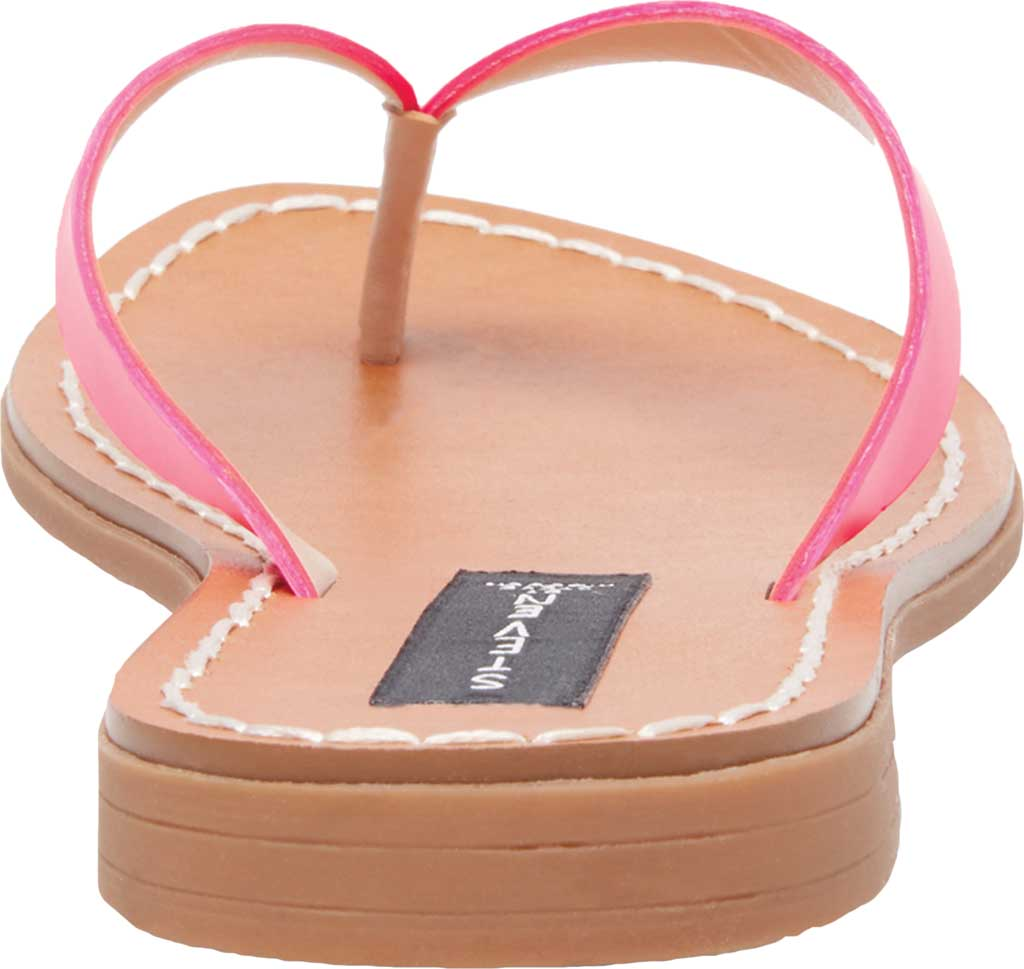 Women's STEVEN by Steve Madden Chey Thong Sandal, Pink Neon Leather, large, image 3