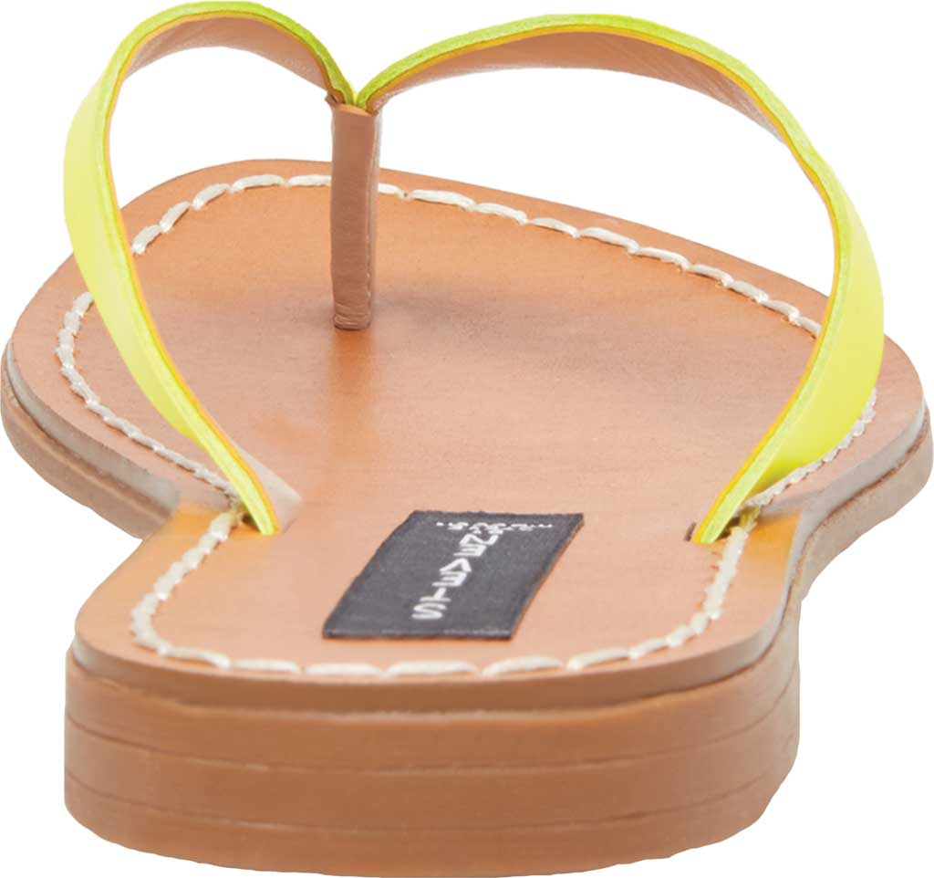 Women's STEVEN by Steve Madden Chey Thong Sandal, Yellow Neon Leather, large, image 3