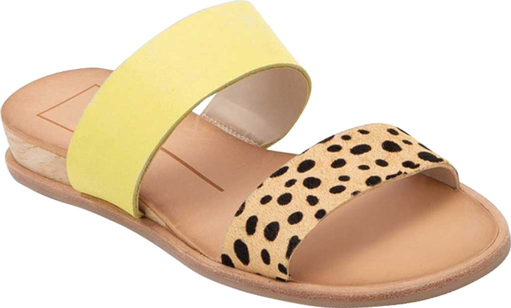 Women's Dolce Vita Payce Slide Sandal, Leopard Multi Calfskin Leather, large, image 1