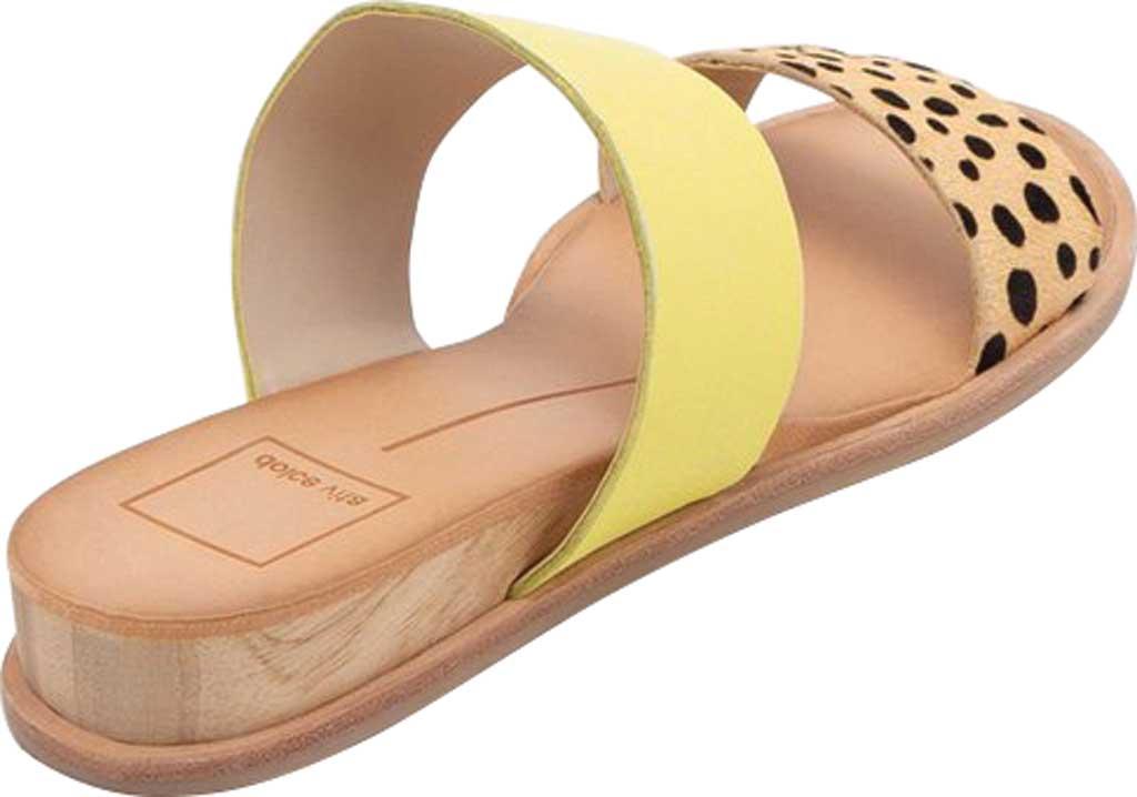 Women's Dolce Vita Payce Slide Sandal, Leopard Multi Calfskin Leather, large, image 3