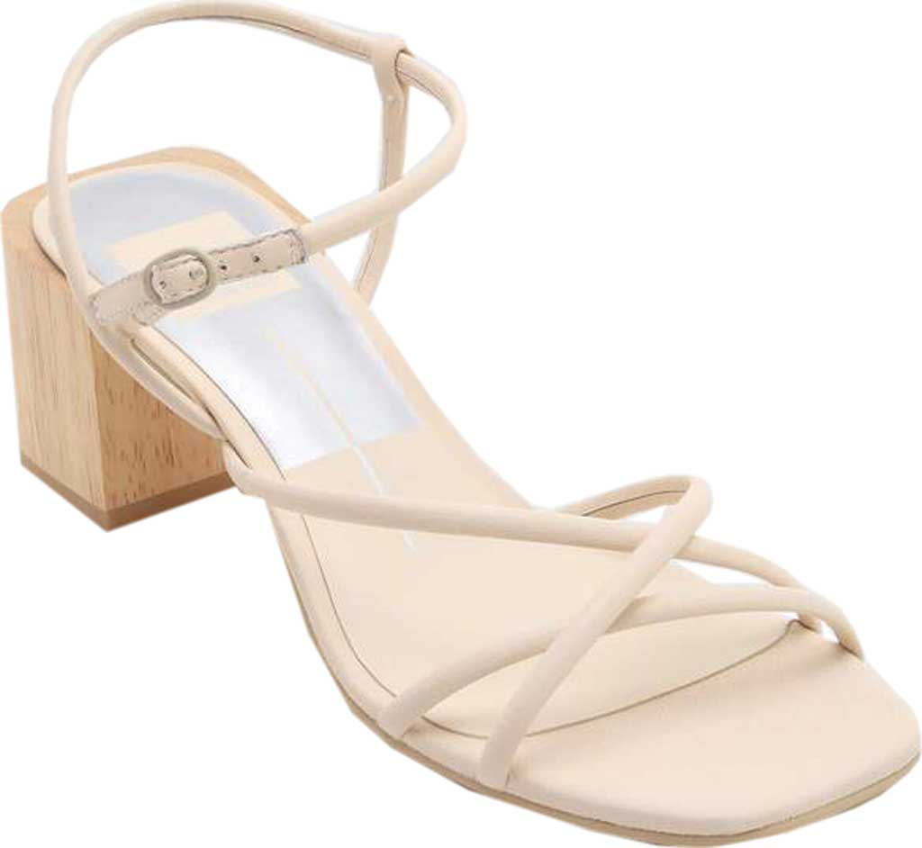 Women's Dolce Vita Zayla Strappy Block Heel Sandal, Ivory Leather, large, image 1