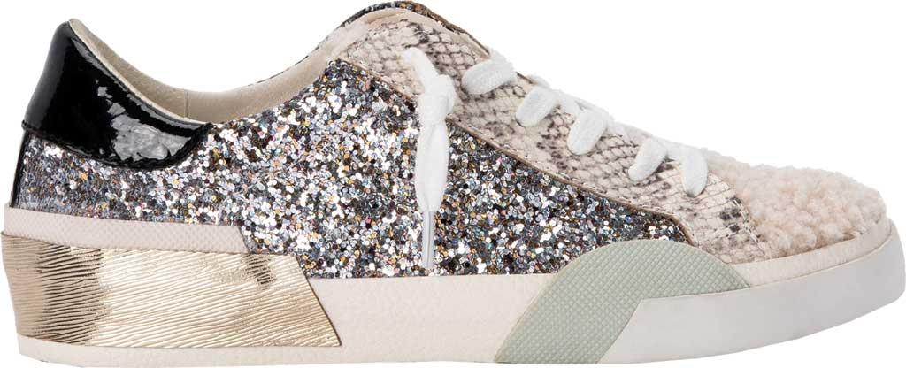 Women's Dolce Vita Zina Plush Sneaker, Silver Multi Glitter/Synthetic Fabric, large, image 2